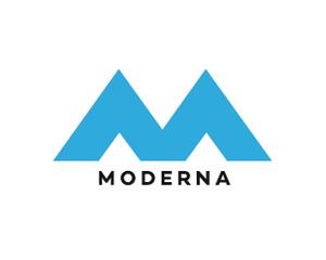 M harfi inşaat firma logosu