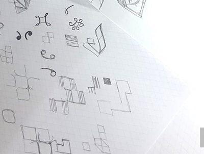 logo şablon eskizi taslağı