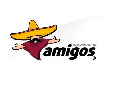 amigos traş köpüğü için amigo maskot tasarımı