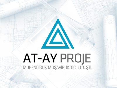at ay proje mühendislik müşavirlik a harfi logo tasarımı