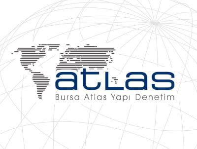 atlas yapı denetim firması için logo tasarımı dünya logosu
