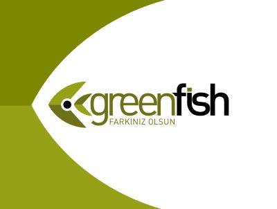 green fish logo tasarımı promosyon logosu