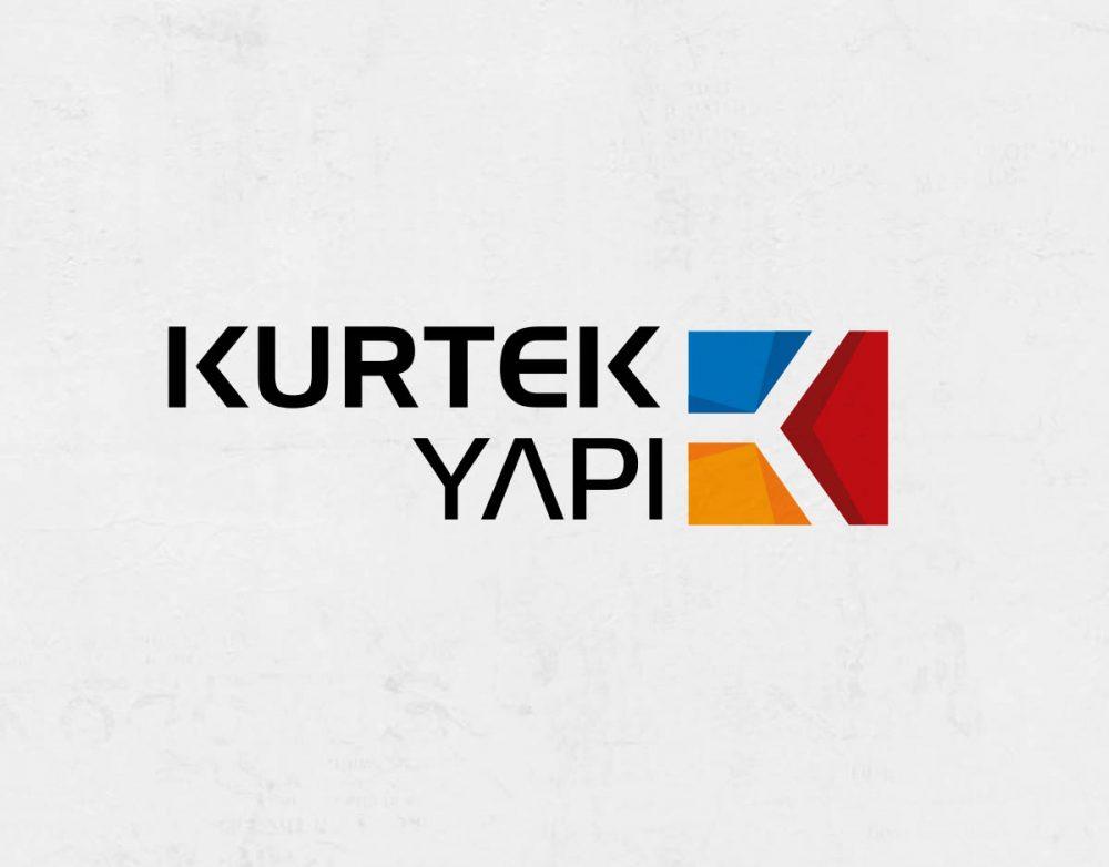 kurtek yapı inşaat gayrimenkul k harfi logosu ile logo tasarımı