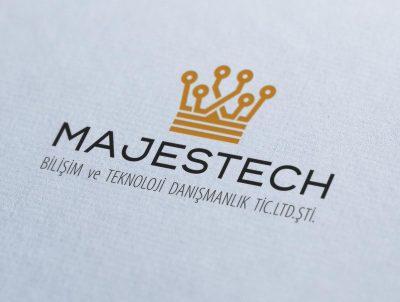 majestech bilişim teknoloji taç logo tasarımı