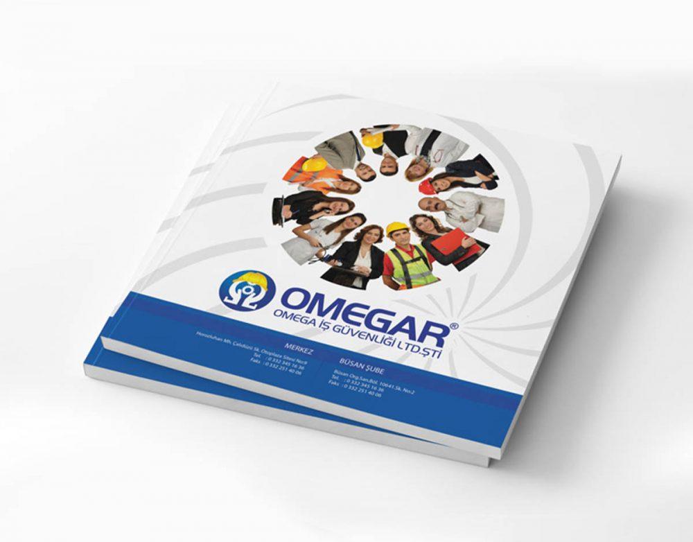 omegar iş güvenliği firması için 2016 yılı tanıtım katalog tasarımı