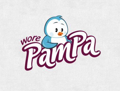 wore pampa tuvalet kağıdı peçete gibi kağıt ürünleri penguen maskot tasarımı